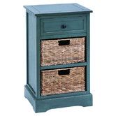 Found it at Wayfair - Cabinet with 2 Wicker Baskets--I would love to have these as night stands in the master bedroom!!!