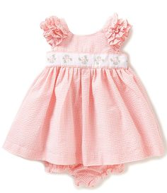 Laura Ashley London Baby Girls 12-24 Months Checked Ruffle-Sleeve Dress  Toddler Outfits a7c0bc331247