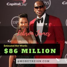 Lebron James may not only go down as one of the best players of all time, he might also be one of the most wealthy as well. With a net worth in the $80 million range right now, Lebron will be in the $100 million club soon enough. However, he still has a way to go to catch up with Jordan, who is already a billionaire.