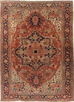 "Serapi Persian Antique Rug   Size: 11' 4"" x 15' 0"""