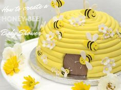 How to create a honeybee baby shower Yummy Cakes, Birthday Cake, Create, Baby Showers, Shower Ideas, Desserts, Shots, Bee, Google Search