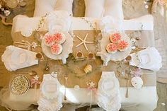 Burlap for tablecloths at a wedding? Yes! It adds the perfect amount of country chic. Pair it up with whites and light pinks like this picture for a girly warm vibe!