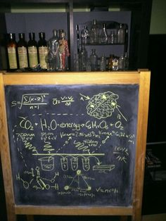 scientist lab- big whiteboard or chalkboard with crazy equations on it! Asylum Halloween, Halloween Science, Adult Halloween Party, Halloween Haunted Houses, Halloween Birthday, Halloween Party Decor, Halloween House, Holidays Halloween, Halloween Themes