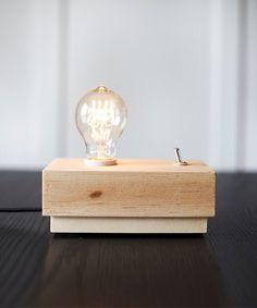 Maple Edison Lamp