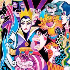 #DisneyVillains art in #Picasso style #disney