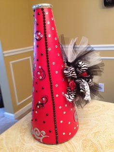 decorated her megaphone.