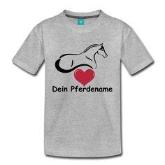 Kinder T-Shirt mit eigenem Pferdenamen individuell anpassbar