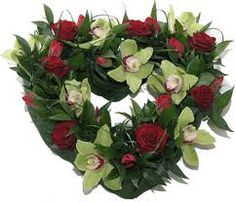 Beautiful Funeral heart shaped wreath Sympathy Flowers, Funeral Flowers, Heart Shapes, Budgeting, Floral Wreath, Wreaths, Tea, Hearts, Beautiful