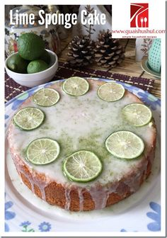 Key Lime Sponge Cake (青柠海绵蛋糕 aka 台湾老奶奶的柠檬蛋糕)   #guaishushu #kenneth_goh     #key_lime_sponge