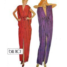 Vintage 70s Bohemian Maxi Caftan Dress Pattern / McCalls 6884 / Grecian Goddess Maxi Dress Pattern