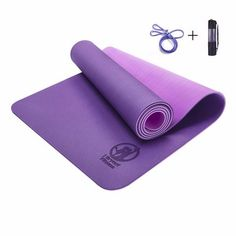 Frugal 183x61x0.6cm None-slip Yoga Mat Tpe With Bag And Rope Double Layers Fitness Gym Exercise Mat Gymnastics Mats Ropa, Calzado Y Complementos