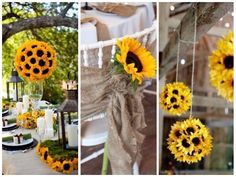 decoracao-de-casamento-com-girassol-foto-pinterest5 Sunflower Party, Toddler Worksheets, Backdrops For Parties, Marriage, Baby Shower, Table Decorations, Birthday, Wedding, Inspiration