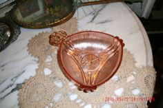 Vintage Antique Pink 1930's Depression Glass Candy Dish~Shabby Cottage~French Chic~Prairie~Farmhouse Style by thebedpost02 on Etsy