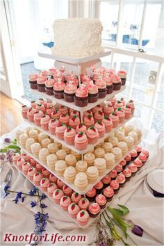Image result for Cupcakeweddingcake