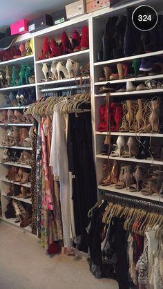 Carli Bybel closet.