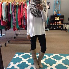 Can't wait for winter clothes. Love me some long sweaters, leggings and boots!