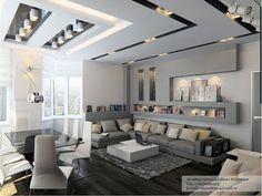 10 Salas Elegantes con Techos Falsos