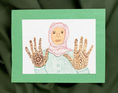 My daughter and i have been doing Henna hands for the last 5 years. I trace her hands and i have always drawn the henna on them. This year she is getting bigger maybe she can do the henna herself!!
