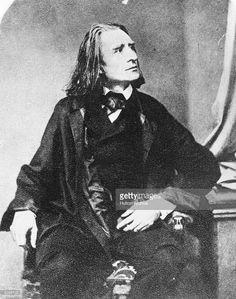 Hungarian-born pianist and composer Franz Liszt (1811 - 1886), originator of the solo piano recital.