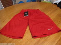 Boy's Nike NEW NWT active shorts mesh Dri fit youth Medium M MD red 649 training