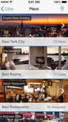 Very horizontal layout. Swiping, like Dropbox's Mailbox. 15. ios7 app design