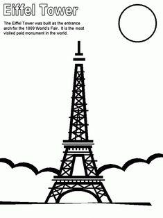 eiffel tower paris coloring pages - Paris Eiffel Tower Coloring Pages