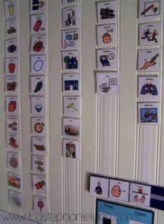 communication/message center or even a simple chore chart system for your kiddies    Made with love by a mom with an autistic child so as to help him communicate better. Bless their hearts! <3<3<3