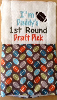 Football burp cloth Sports burp cloth Ball by BrinleysBowtique32