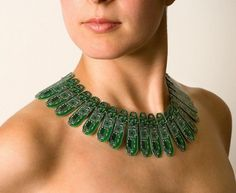 Christoph Koch's necklace of recycled circuit boards