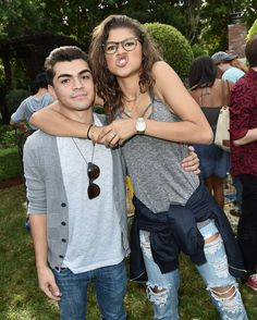 Zendaya with Adam Irigoyen at Just Jared's Fall Fun Day in LA 10/24/15
