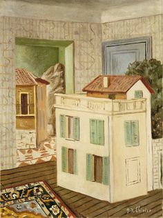 Giorgio de Chirico, The House within the House, 1924 Art Experience NYC www.artexperiencenyc.com/social_login/?utm_source=pinterest_medium=pins_content=pinterest_pins_campaign=pinterest_initial