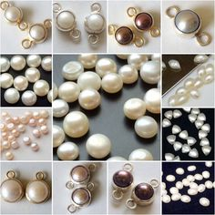 It's raining pearls on Gemsforjewels! Browse through the pearl cabochon collection - Round, Trillion, Marquise, Oval to design them to beautiful studs- Pearl connectors in single & double loop in ivory, pink, grey and wine color. Convo for custom orders.
