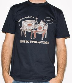 Planet Ex | NEW Music Evolution - back in my days - Music / DJ Mens T-Shirt