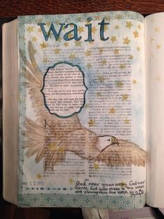 My first Bible journaling entry..Isaiah 40:31 a reminder that God is my strength.