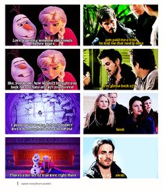 Frozen meets Hook/Emma - Love means putting someone else's needs above your own [gif set]