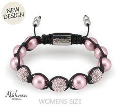 Danish Nirbana Soul Rosea Pink Shamballa Swarovski Pearl Bracelet Stunning pearl bracelet from a feminine line of original Swarovski elements. A beautiful combi Pearl Bracelet, Beaded Bracelets, Swarovski Pearls, Pretty In Pink, Beautiful, Jewelry, Design, Fashion, Pink