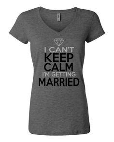 I Can't Keep Calm I'm Getting Married Glitter Print by TeeHabit, $23.99