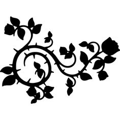 Roses And Vines Silhouette ❤ liked on Polyvore featuring backgrounds, flowers and filler