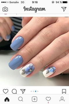 41 latest nail trends and designs 2019 039 41 latest nail trends and designs 2019 039 Stylish Nails, Trendy Nails, Short Nail Designs, Nail Art Designs, Hot Nails, Hair And Nails, Spring Nails, Summer Nails, Gel Nagel Design