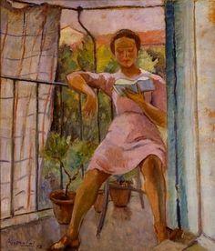 """Sul Balcone"" by Adelaide Giannini (1898-?)"