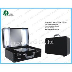 Aluminum Makeup Case with Light with Mirror for Sale, China Aluminum Makeup Case with Light with Mirror Manufacturer & Supplier in Jinhua, Model is Mirrors For Sale, Box Bag, Makeup Case, Makeup Tools, China, Porcelain