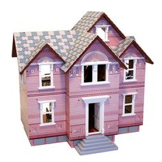 Melissa and Doug Victorian Dollhouse: Wooden Dollhouse, Wood Dollhouses Dollhouse Kits, Wooden Dollhouse, Dollhouse Miniatures, Victorian Dolls, Victorian Dollhouse, Family Furniture, Melissa & Doug, Play Houses, Doll Houses