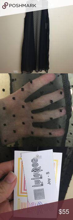LuLaRoe Joy NWT LuLaRoe joy. Sheer back material with small solid black dots all over. LuLaRoe Tops Tunics
