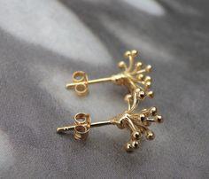 Art Deco Earrings, Flower Earrings, Gold Earrings, Pierced Earrings, Etsy Earrings, Swarovski Crystal Earrings, Gold Flowers, Minimalist Earrings, Beautiful Earrings