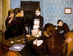 Emily Shanks (1857 – 1936, Russian-born English) Newcomer at School