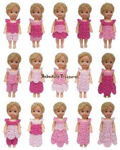 Pretty in Pink Free Crochet Pattern for Children Fashion Dolls by Rebeckah's Treasures