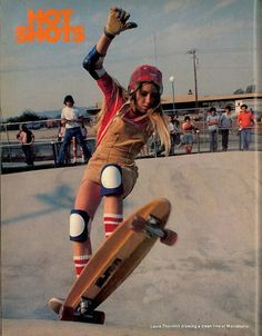 skateboarding shorts long hair 1970's 70's seventies skater girls ...