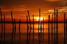 Sunset at Tanjung Belandang, West Borneo, Indonesia...