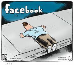 Cartoon about facebook.