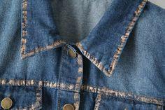 Chaqueta de los pantalones vaqueros 2015 del estilo de europa con borde dorado CTB 766 chaqueta de mezclilla para mujer vaqueros escudo chaquetas mujeres en Chaquetas Básicas de Moda y Complementos Mujer en AliExpress.com | Alibaba Group